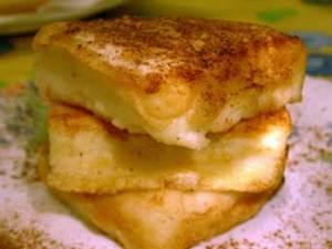 azucarada leche frita con un poquito de canela
